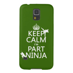 Case-Mate Barely There Samsung Galaxy S5 Case with Keep Calm I'm Part Ninja design