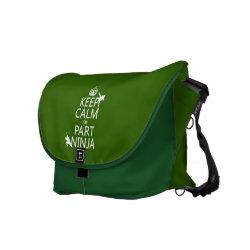 ickshaw Large Zero Messenger Bag with Keep Calm I'm Part Ninja design