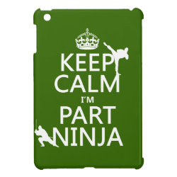 Case Savvy iPad Mini Glossy Finish Case with Keep Calm I'm Part Ninja design
