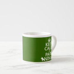 Espresso Cup with Keep Calm I'm Part Ninja design