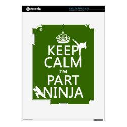 Amazon Kindle DX Skin with Keep Calm I'm Part Ninja design