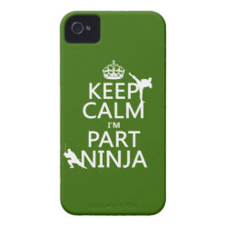 Case-Mate iPhone 4 Barely There Universal Case with Keep Calm I'm Part Ninja design
