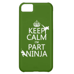Case-Mate Barely There iPhone 5C Case with Keep Calm I'm Part Ninja design