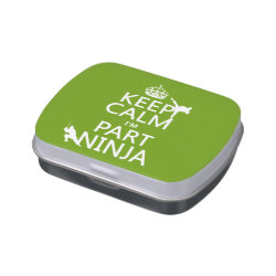 Rectangle Jelly Belly™ Candy Tin with Keep Calm I'm Part Ninja design