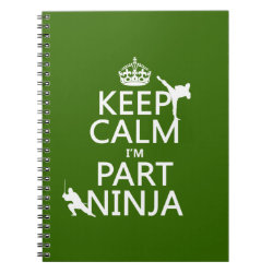 Photo Notebook (6.5' x 8.75', 80 Pages B&W) with Keep Calm I'm Part Ninja design