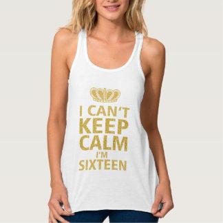 Keep Calm I'm Sixteen|Sweet Sixteen Golden Tank Top