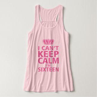 Keep Calm I'm Sixteen|Sweet Sixteen Pink Tank Top