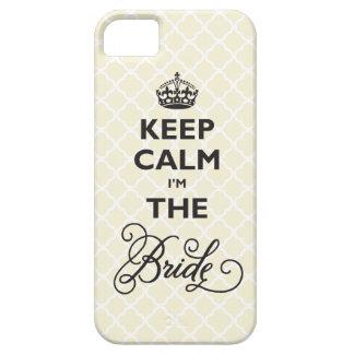 Keep Calm I'm The Bride Stylish Chic Quatrefoil iPhone 5 Case