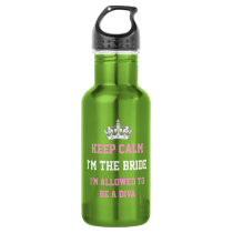 Keep Calm I'm the Bride Water Bottle