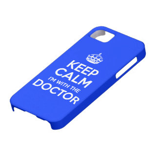 Keep Calm I'm With The Doctor (with crown) iPhone 5 Cases