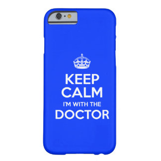 Keep Calm I'm With The Doctor (with crown) Barely There iPhone 6 Case
