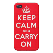 Keep Calm in Cherry Red iPhone 4/4S Case