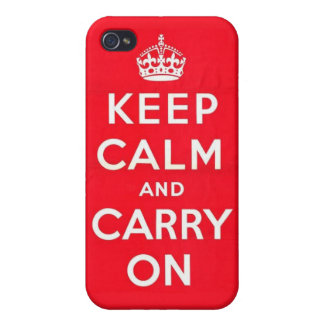 Keep Calm in Cherry Red iPhone 4 Case