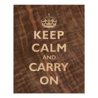 Keep Calm in Marquetry Poster