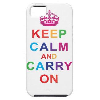 Keep Calm in Rainbow iPhone 5 Cases