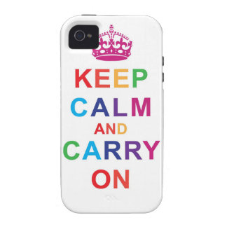 Keep Calm in Rainbow Vibe iPhone 4 Cases