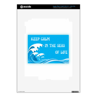 Keep Calm In The Seas Of Life iPad 3 Decals