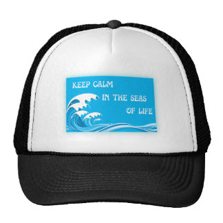Keep Calm In The Seas Of Life Trucker Hat
