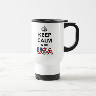 Keep Calm in the USA 15 Oz Stainless Steel Travel Mug