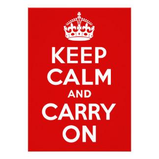 Keep Calm Invitation