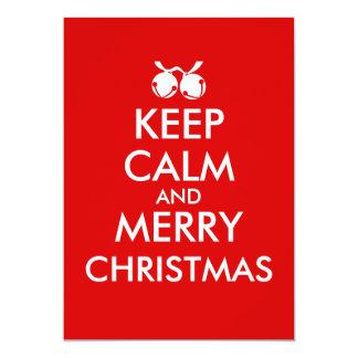Keep Calm Invitations Jingle Bells Christmas Party