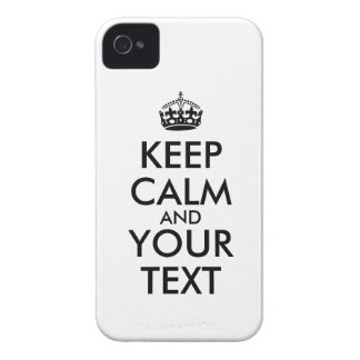 Keep Calm iphone 4 Case Add Your Own Words Color