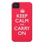 Keep Calm iPhone 4 Case-Mate Case