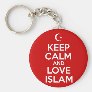 Keep Calm Islamic Basic Round Button Keychain
