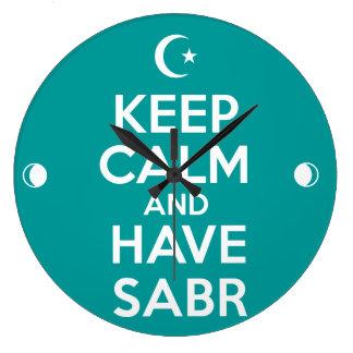 Keep Calm Islamic Wallclock