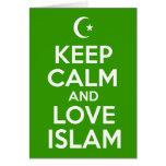 Keep Calm Islamic Greeting Card