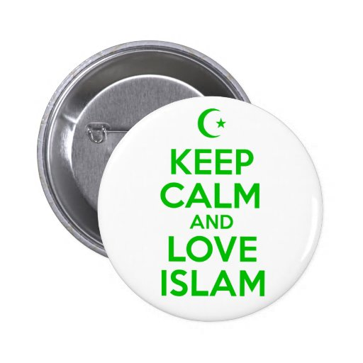 Keep Calm Islamic Pinback Button