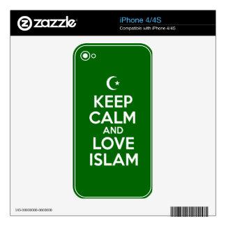 Keep Calm Islamic Skin For The iPhone 4