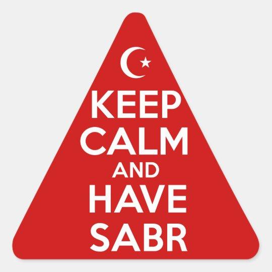 Keep Calm Islamic Triangle Sticker