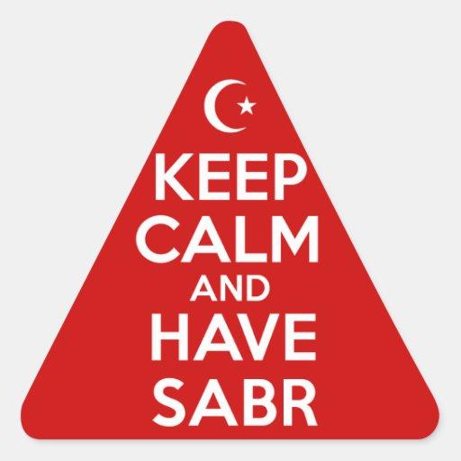 Keep Calm Islamic Triangle Stickers