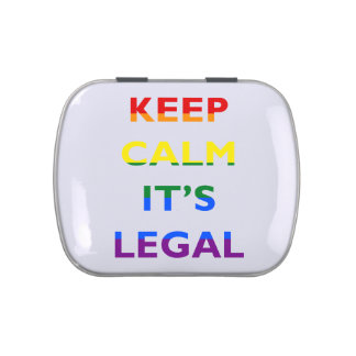Keep Calm It's Legal Support LGBT Candy Tins