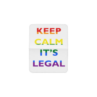 Keep Calm It's Legal Support LGBT Card Holder