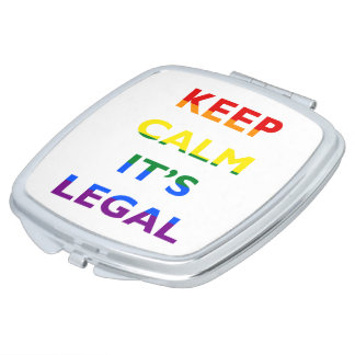 Keep Calm It's Legal Support LGBT Compact Mirror