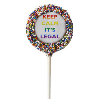 Keep Calm It's Legal Support LGBT  Confetti Cookie