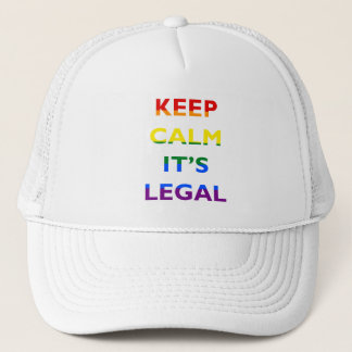 Keep Calm It's Legal Support LGBT Hat