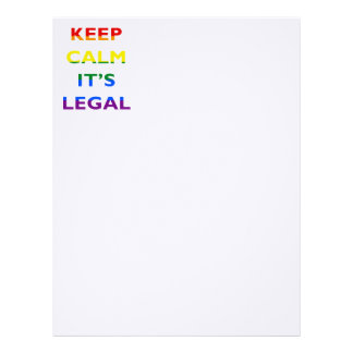 Keep Calm It's Legal Support LGBT Letterhead