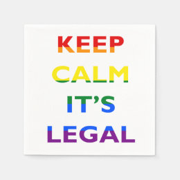 Keep Calm It's Legal Support LGBT Napkins