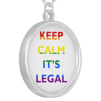 Keep Calm It's Legal Support LGBT Necklace