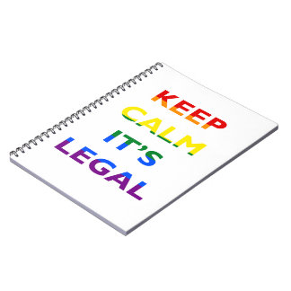 Keep Calm It's Legal Support LGBT Notebook