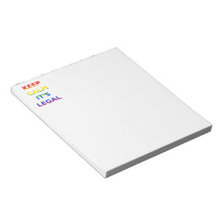 Keep Calm It's Legal Support LGBT NotePad