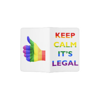 Keep Calm It's Legal Support LGBT Passport Cover