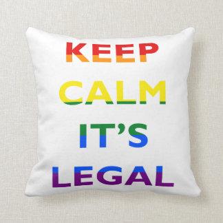 Keep Calm It's Legal Support LGBT Pillow