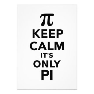 Keep calm it s only Pi Personalized Announcements