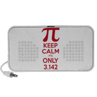 Keep Calm It s Only Pi iPhone Speakers