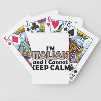 Keep Calm Italians Bicycle Playing Cards
