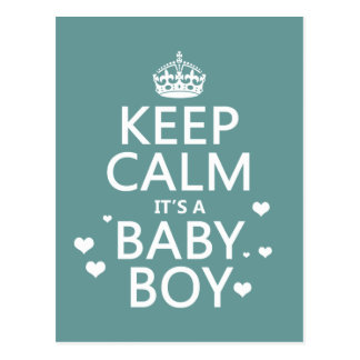 Personalized baby gifts baby products zazzle postcards keep calm its a baby boy postcard negle Choice Image